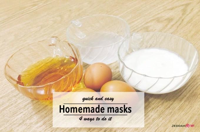 quick and easy homemade masks JeddahMom