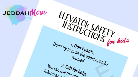 Elevator Safety Instructions Cover
