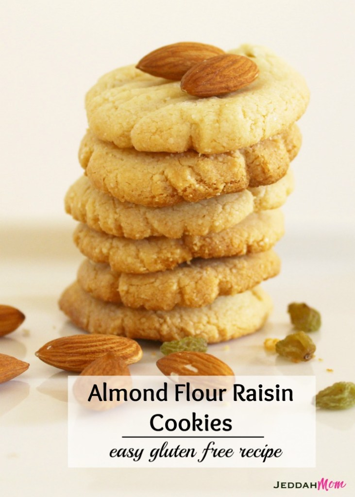 Almond Flour Raisin Cookies