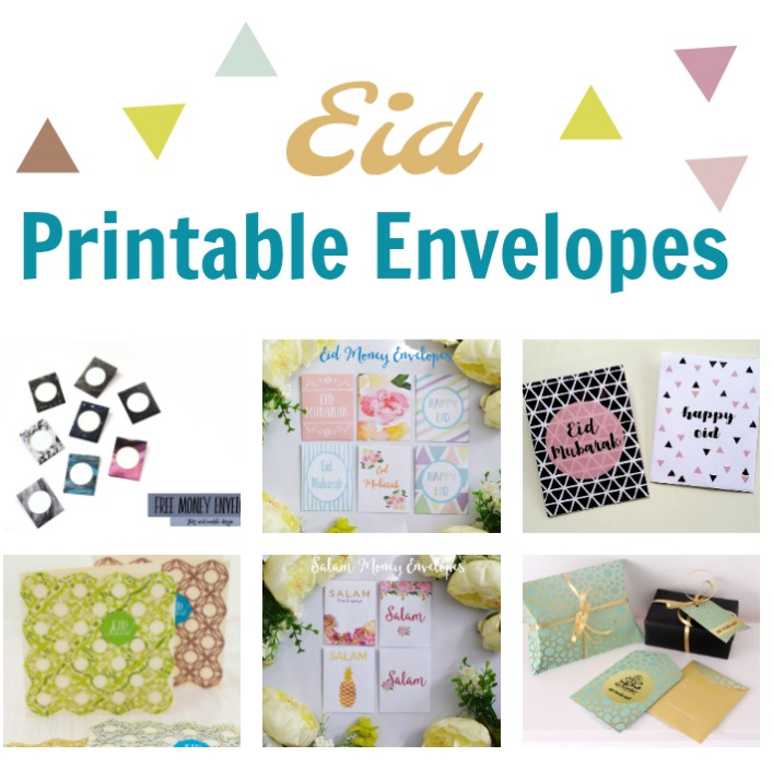 Free Printable Eid Envelopes to gift your Eidi