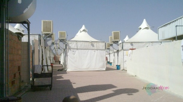 Tents in a group during hajj JeddahMom