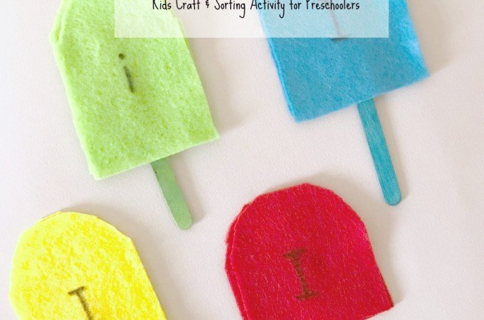 Easy Ice Cream Craft and Sorting Activity for Preschoolers