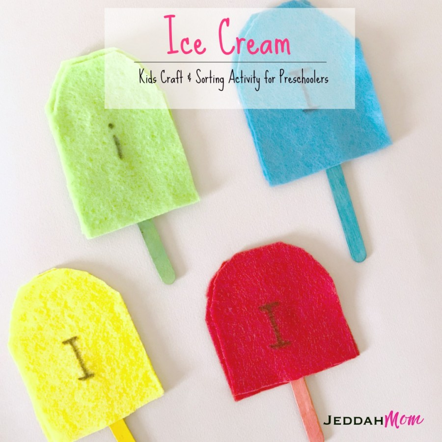 Ice Cream Kids Craft and Learning Activities