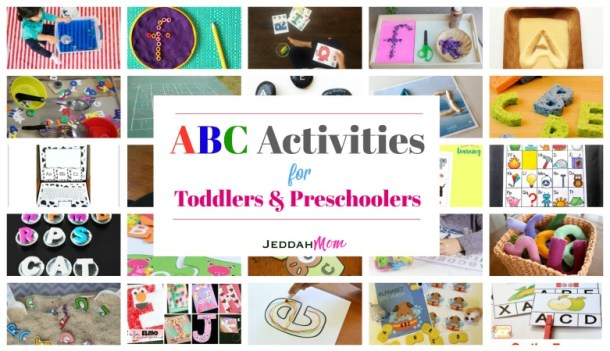 ABC Activities for Toddlers and Preschoolers Teach children their alphabets through craft and play Jeddah Mom