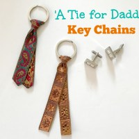 Simple Tie Key Chains: Kid Made Gifts