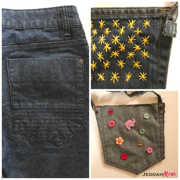 Simple kid made mother's day craft. Make a purse out of old jeans