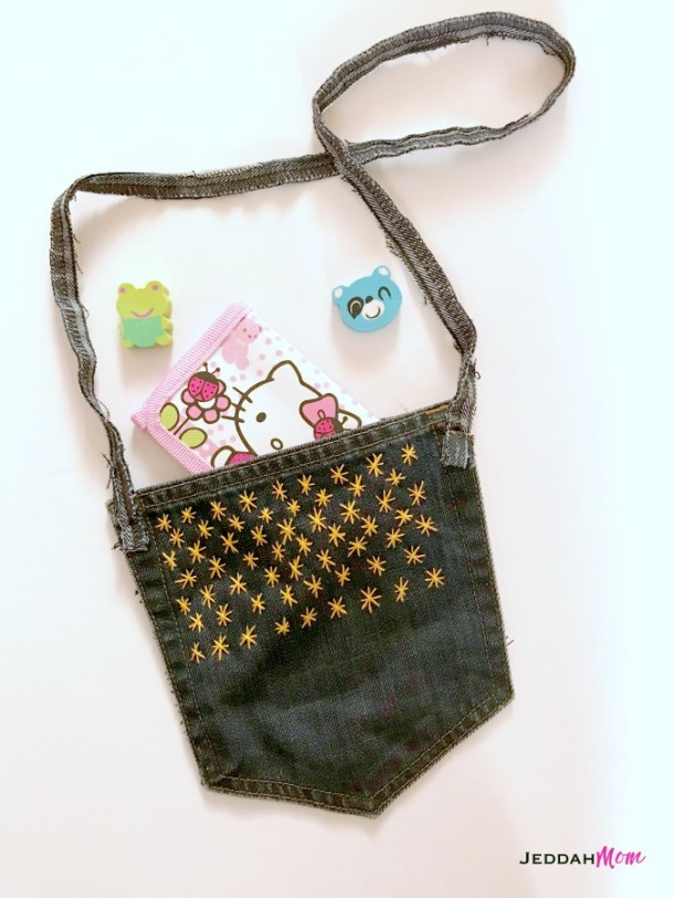 Upcycled Denim Purse from Old Jeans JeddahMom