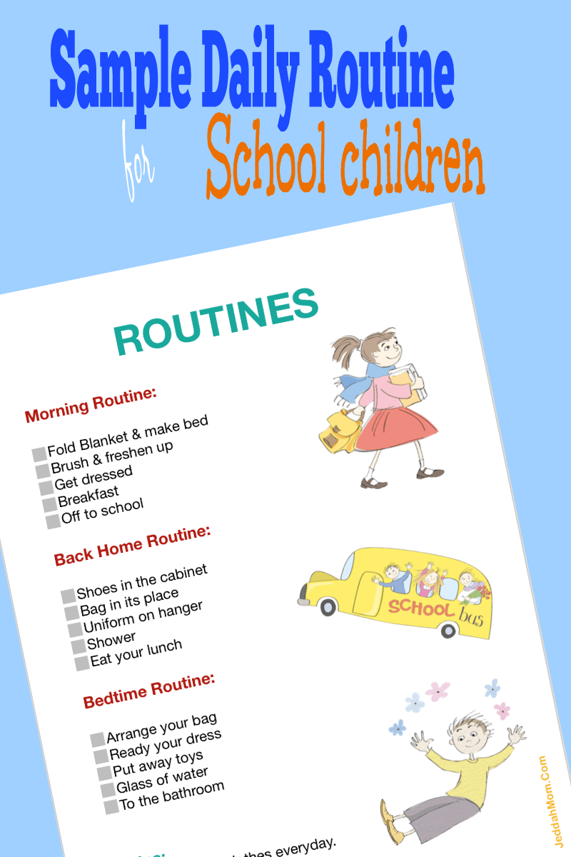picture about Children's Routine Charts Free Printable known as Pattern Day by day Plan Chart for Young children