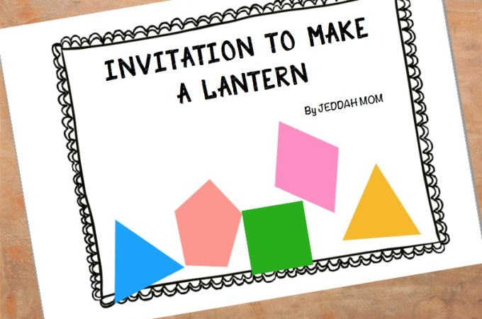 Ramadan Themed Invitation to play – Make and Decorate Lanterns