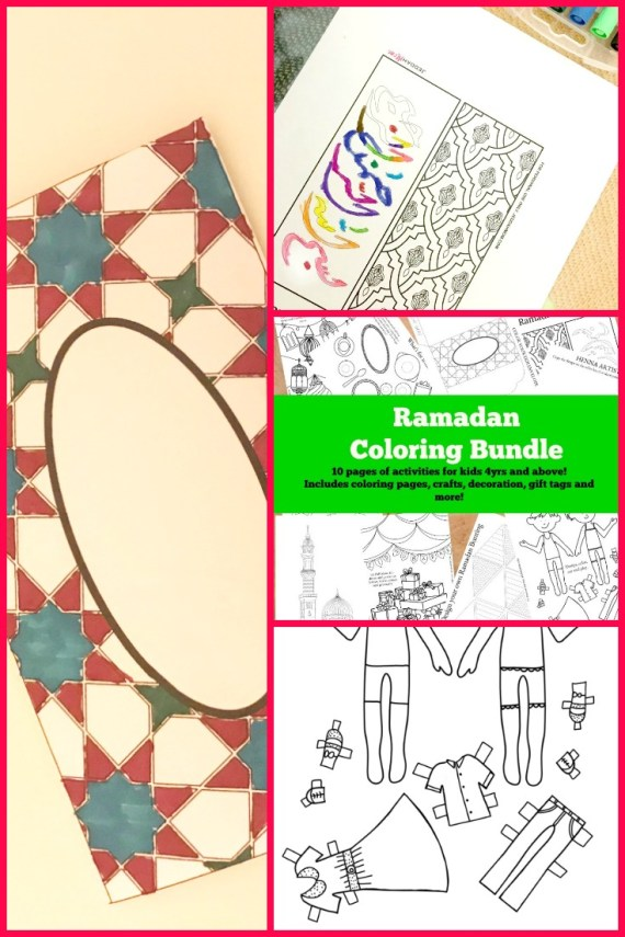 Ramadan Activities Coloring Bundle JeddahMom