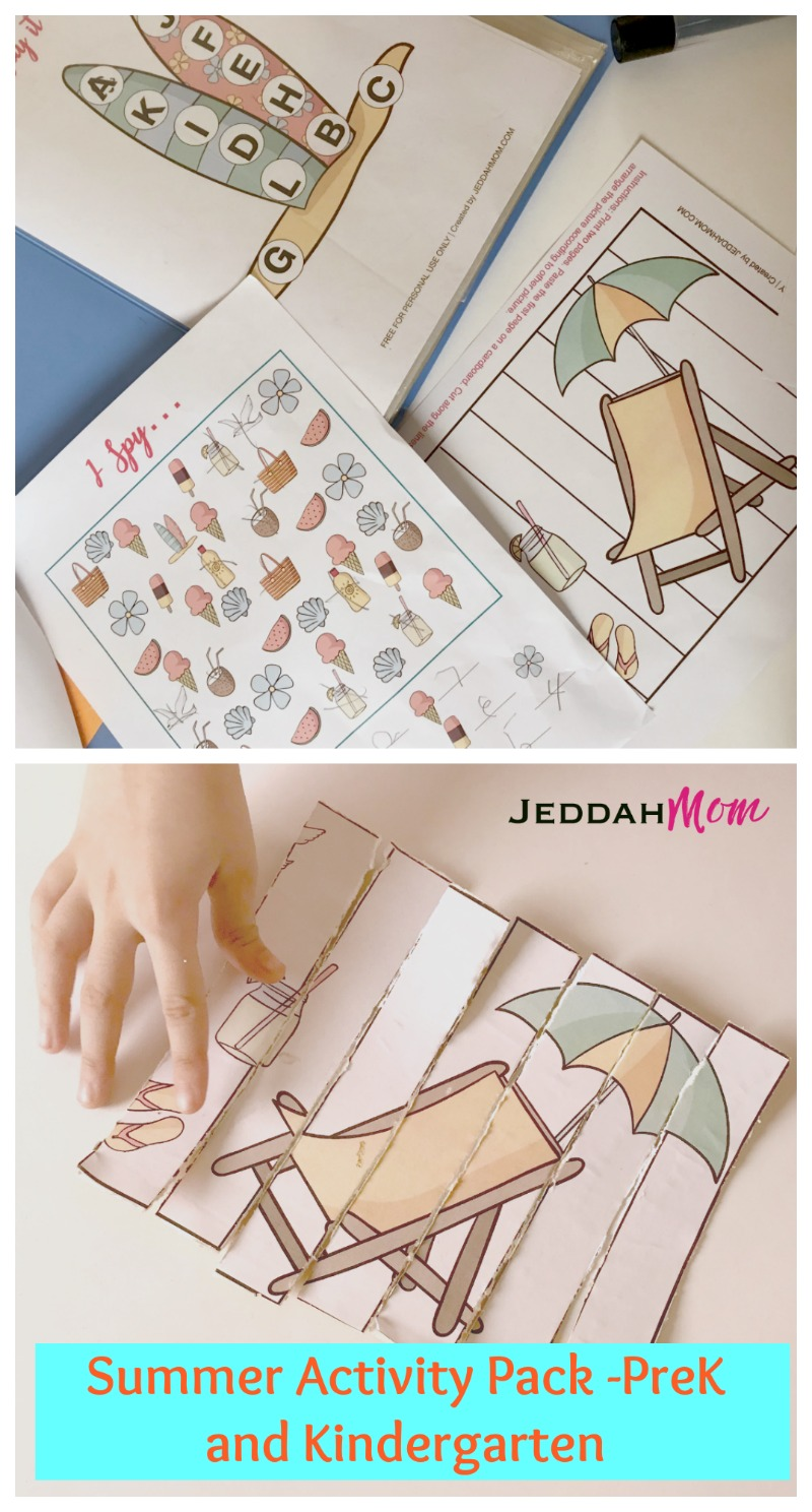 Enjoy this Free Summer Activity pack for prek and kindergarten jeddahMom