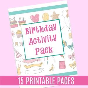 Birthday Party Printable Worksheet Pack JeddahMom