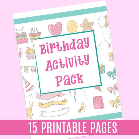 Birthday Party Printable Worksheet Pack JeddahMom