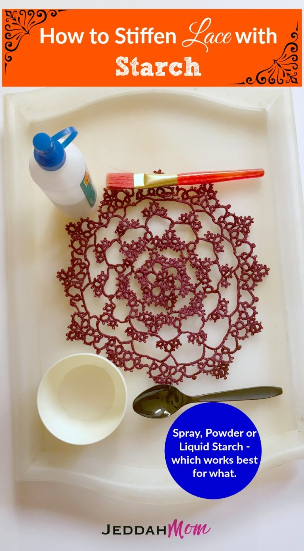 How to stiffen Lace with Starch Lace doilies JeddahMom