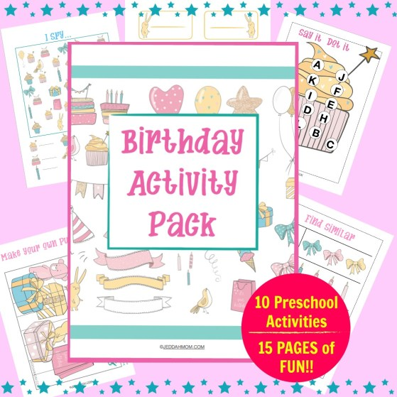 Cute Happy Birthday Activity Pages | Printables for Kindergarten