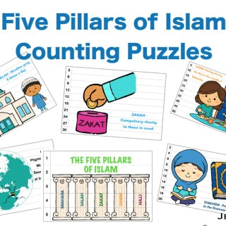 five pillars of Islam counting cards Ramadan activities for kids