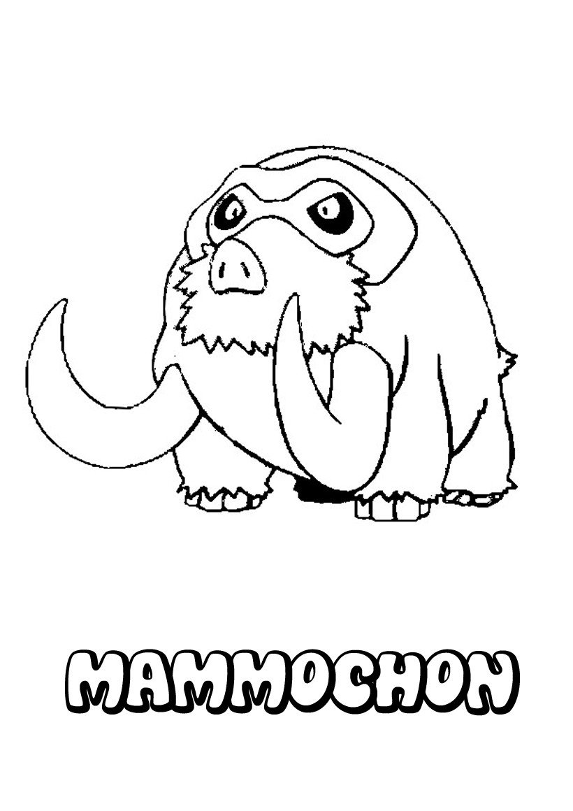 Get free high quality hd wallpapers coloriage pokemon mammochon a imprimer