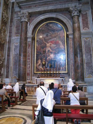 The tomb of Pope John Paul II in St. Peter's