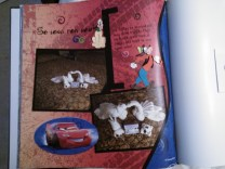 """I added a few 3D stickers to the book after it was printed for a """"hybrid"""" feel."""