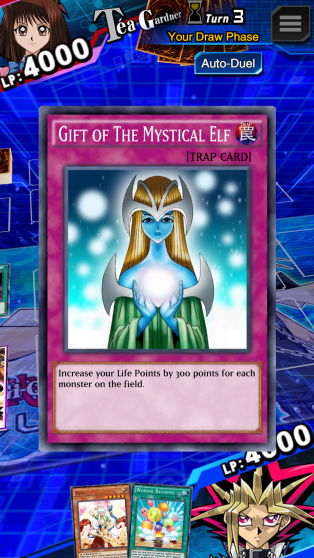 Playing a trap card