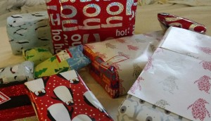 poorly-wrapped presents