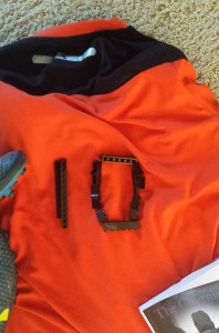 Orange CC Sentries jersey with black 10.