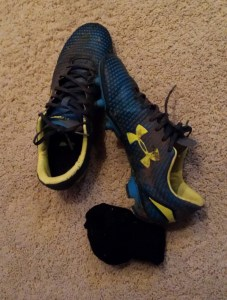 Pair of dirty cleats