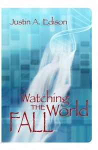 Watching the World Fall's waterfall-helix cover with name, title