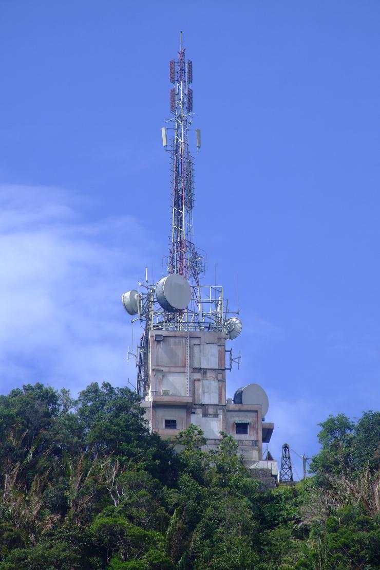 Telcom tower on mt. Serapi