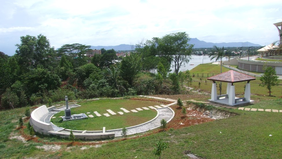 Graveyard by the fort.