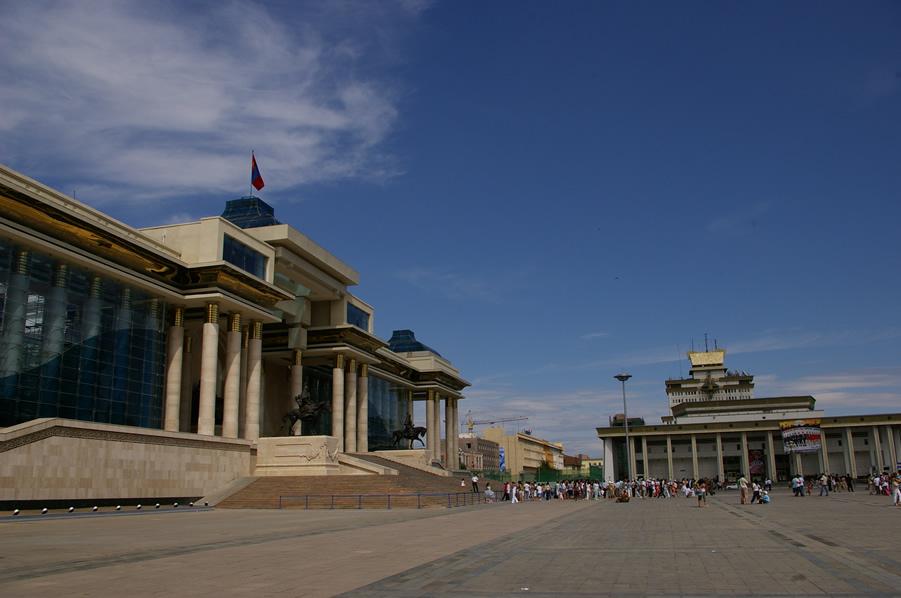 Ułan Baator - główny plac