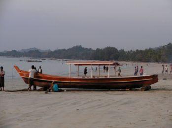 Powszechny widok w Ngapali