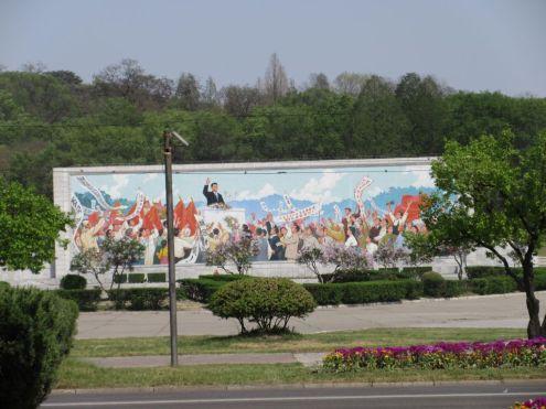Pjongjang - mozaika propagandowa
