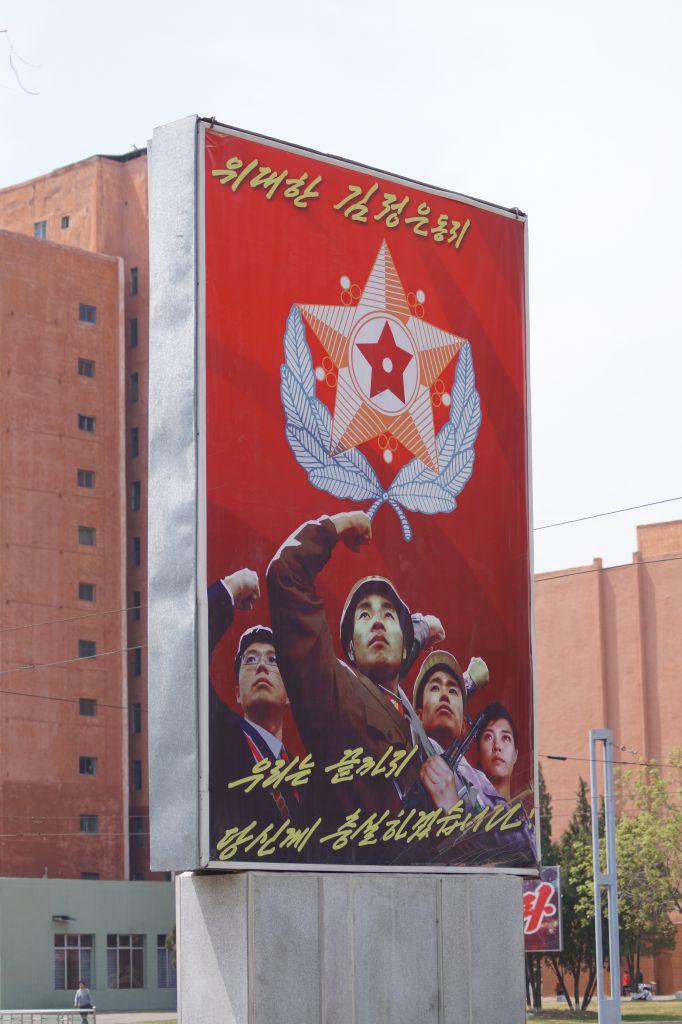 Pjongjang - plakat propagandowy