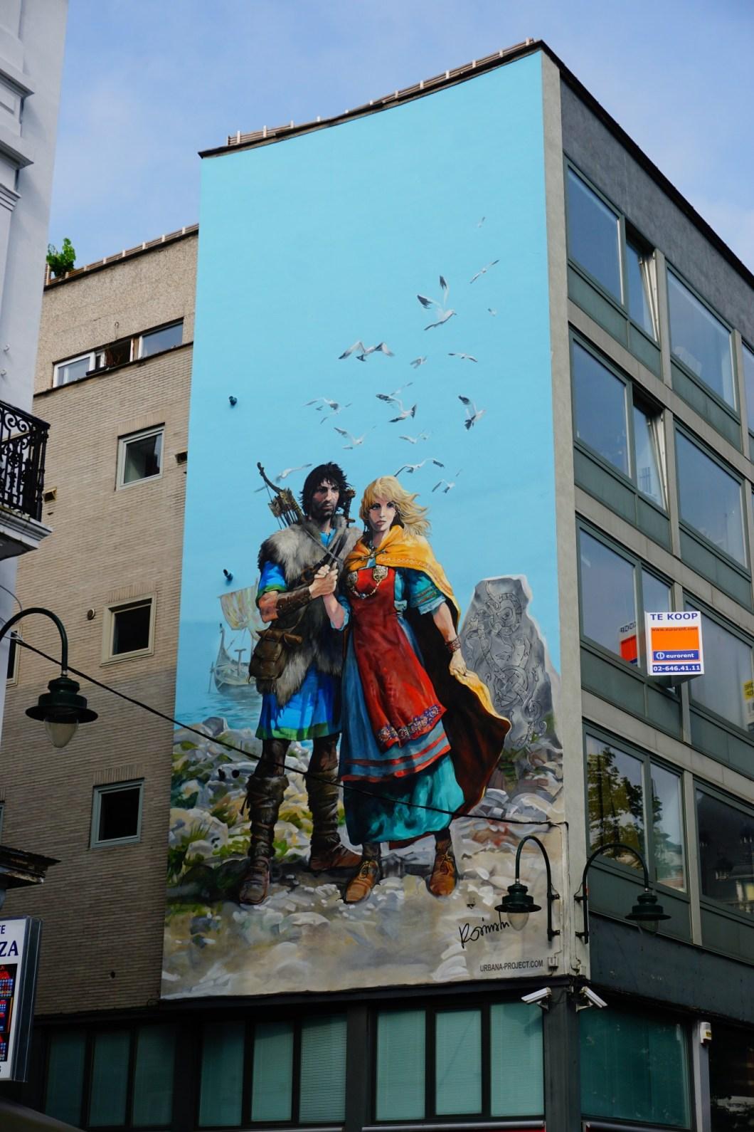 Bruksela - Mural z Thorgalem