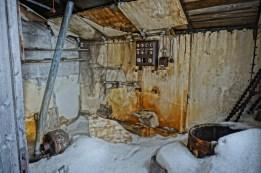 Hiorthfjellet - wnętrze jednego z budynków kopalni