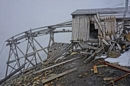 Hiorthfjellet - kopalnia z zewnątrz