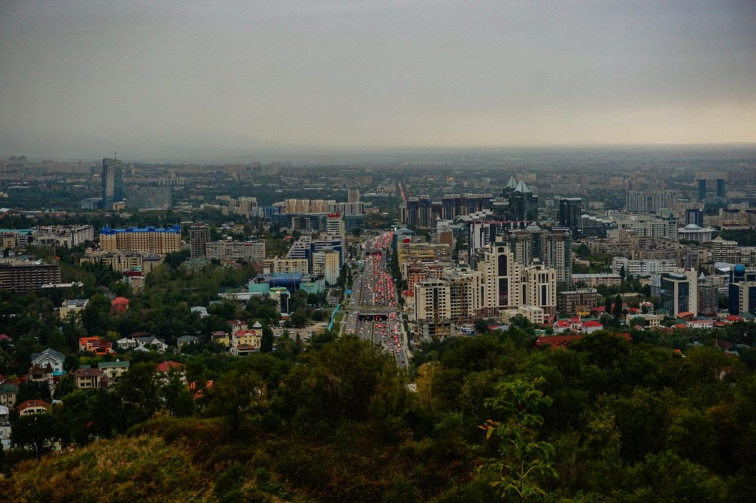 Almaty - widok z Kok Tobe