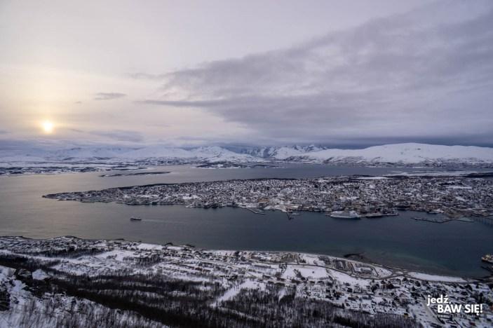 Floya - widok na Tromso - zachód