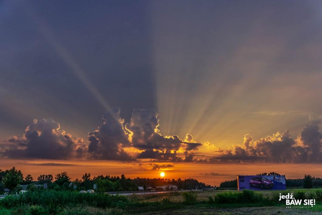 Polska - zachód słońca