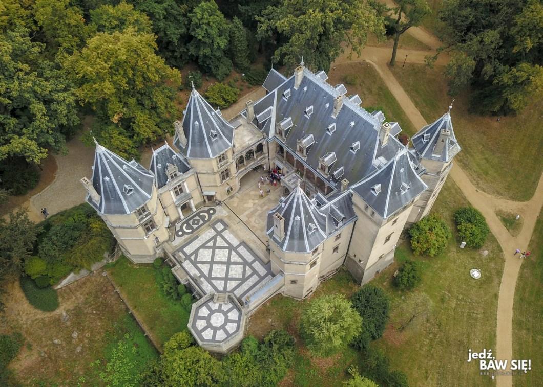 Zamek w Gołuchowie z góry
