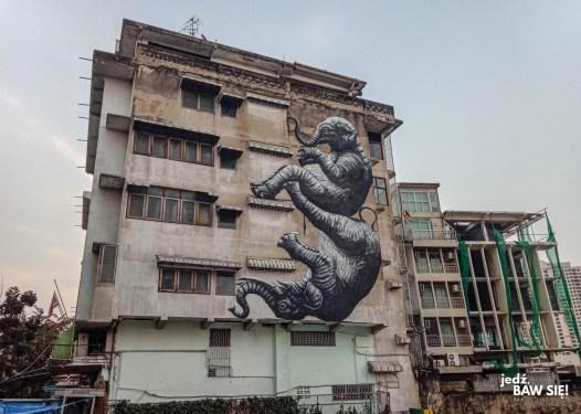 Bangkok - Chinatown - mural