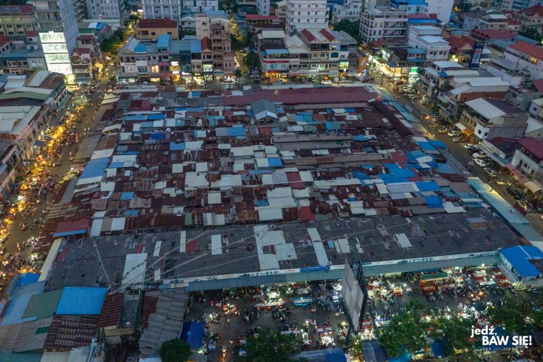 Phnom Penh - Ruski Targ z góry