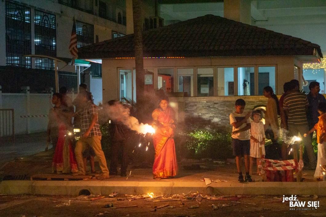 Kuala Lumpur - sztuczne ognie podczas Diwali
