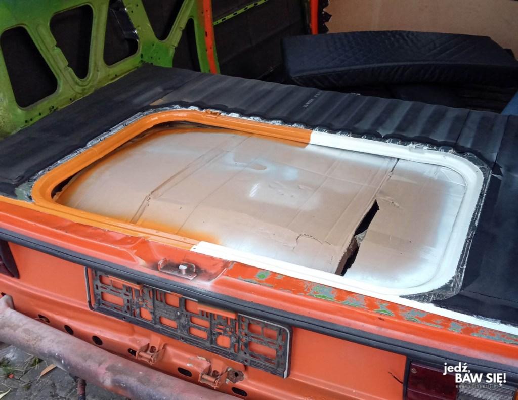 Remont VW T3 - etap 2 - pomalowane elementy paki