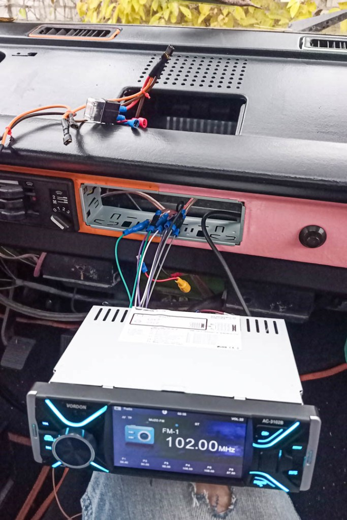 Radio VW T3 - pierwszy test