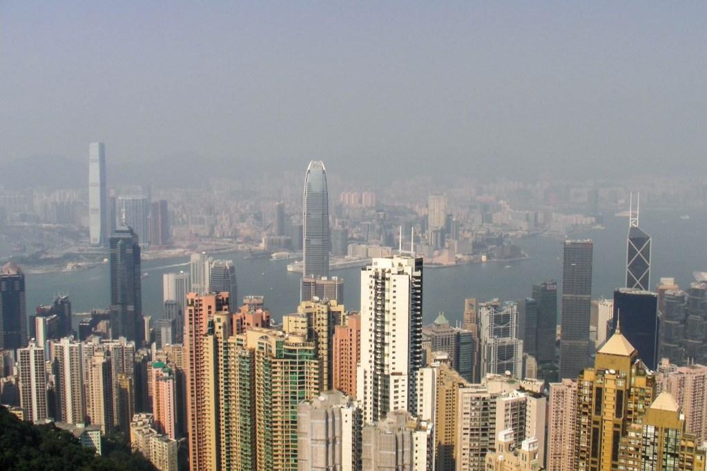 Hong Kong - widok z The Peak