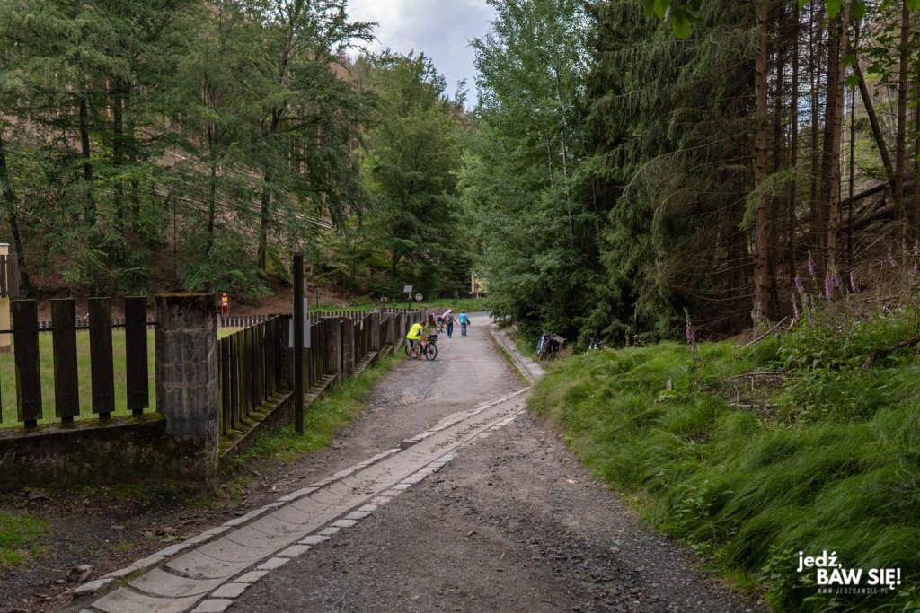 Czeska Szwajcaria - początek trasy pod Bramę