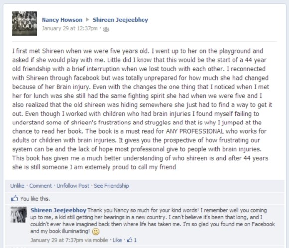 Review of Concusion by Nancy Howson on Facebook 29 Jan 2013