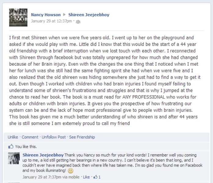 Nancy Howson Facebook Post Screen Capture
